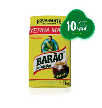 Kit Erva Mate Barão Export 1kg (10unid)