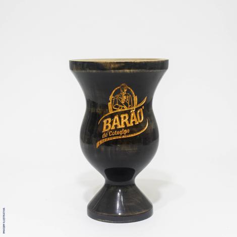 Cuia Barão Madeira com pé Escura + Bomba Barão Inox