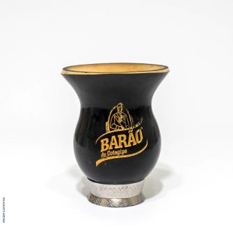Cuia Barão Bago com pé - Preta