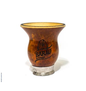 Cuia Barão Bago com pé - Marrom