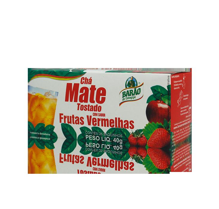Chá Mate Tostado com Frutas Vermelhas 40 G